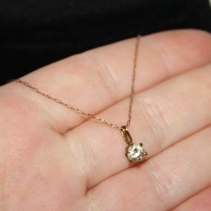 Vintage 1/20 12k gf CZ pendant necklace